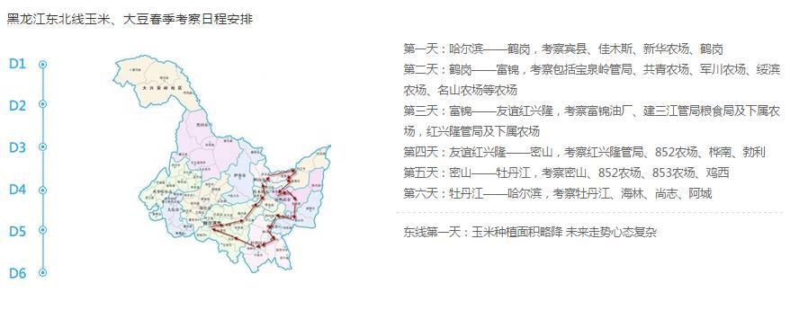 黑龙江东北部考察路线
