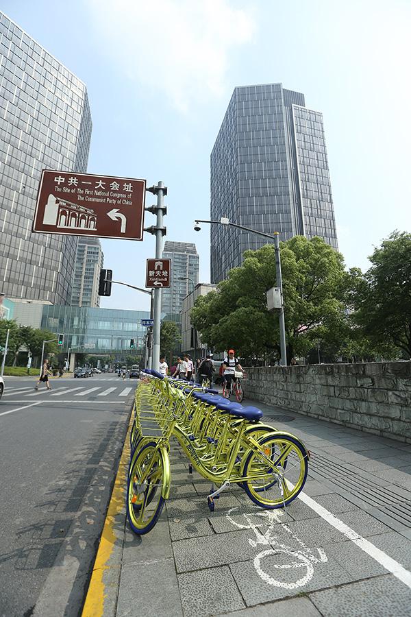 酷奇单车现身上海街头。