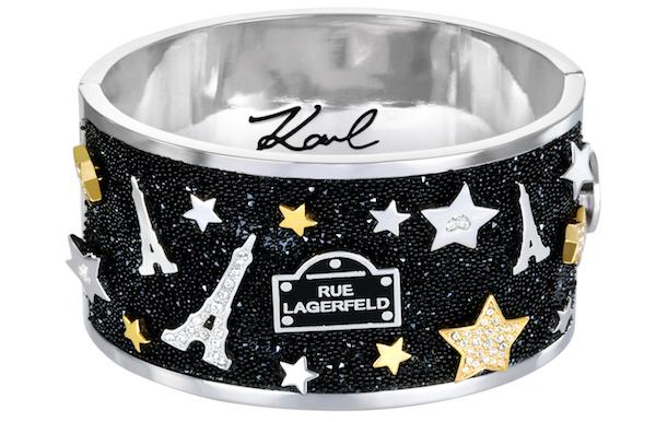 卡尔・拉格斐跨界设计的珠宝作品,不羁叛逆中带着一点浪漫气息。