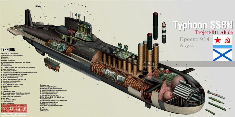 图为中国海军核潜艇