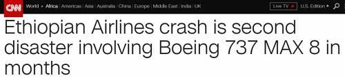 这是6个月内第二驾崭新的波音客机在起飞后几分钟内坠毁。