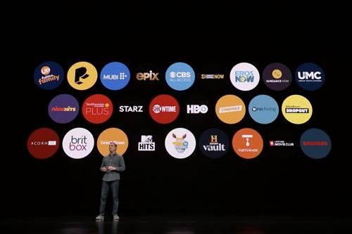 苹果发布会上展现了26家内容配相符平台