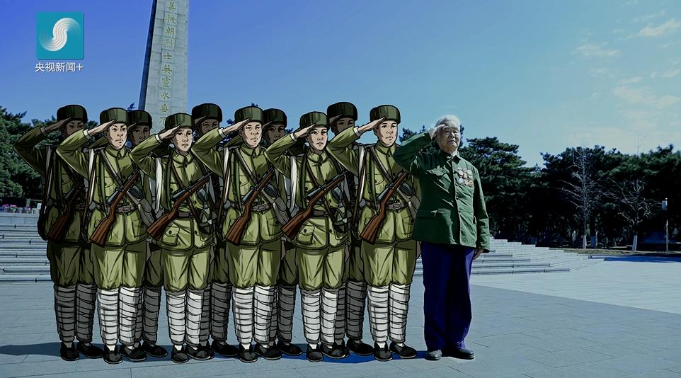去看看现在的朝鲜,这个愿望虽不能实现,央视新闻为杨德盛老人手绘了一张他与战友的合影。战友们,以这种方式再相聚!