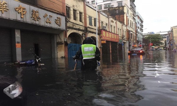 广东强对流天气周末持续 局地有暴雨