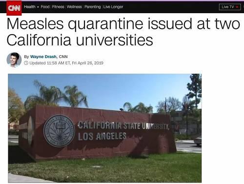 加州大学爆发麻疹疫情,300多名师生被迫隔离,这竟是场人祸!