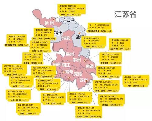 江苏省是我身边感受最明显的,常州、苏州、南京、南通正在疯狂的土地出让。其中常州连续4块的土地溢价率在50%以上,并且到了五月份整个土地出让的节奏完全没有停下来的意思,依然会有13块地1302亩用地的规模待价而沽
