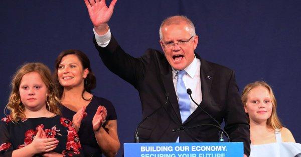 澳洲大选结果出炉现任总理莫里森领导的执政联盟意外获胜
