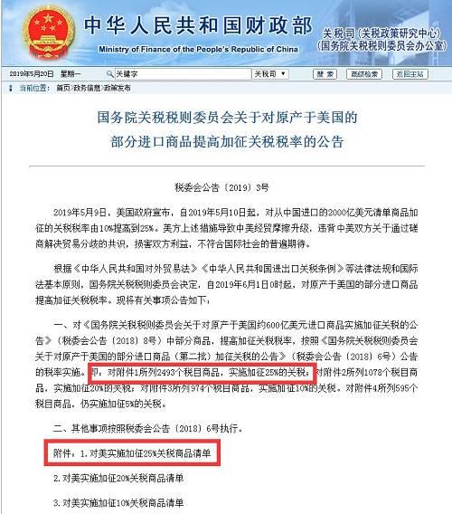 浮言:网传新闻称,为了回击美方,中方宣布对。来自美国的2493栽进口药品加征关税。
