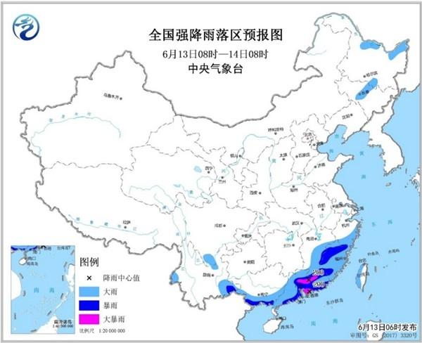 暴雨黄色预警:广东福建浙江黑龙江等地有大雨或暴雨