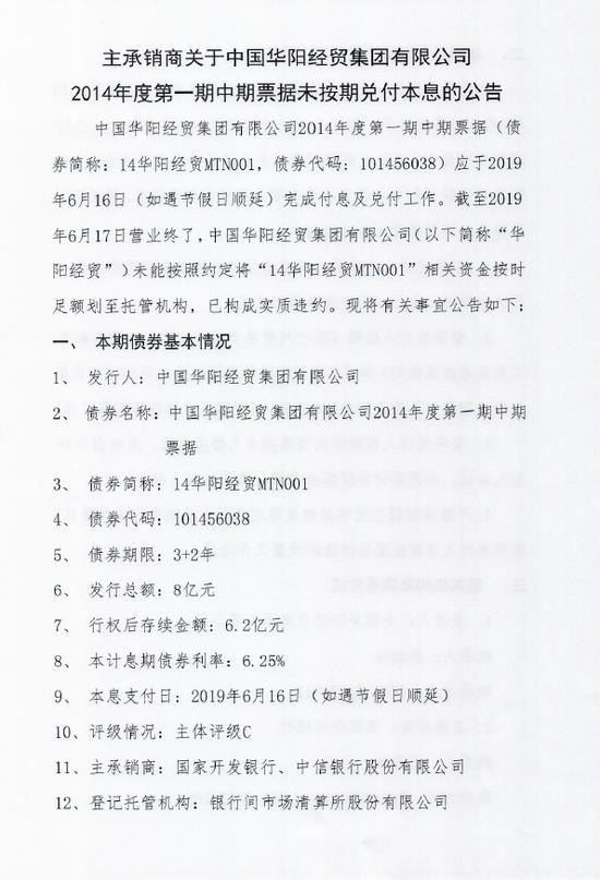 华阳经贸集团14华阳经贸MTN001已构成村小杏仁实质学图片