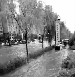 吉林市迎来暴雨天气