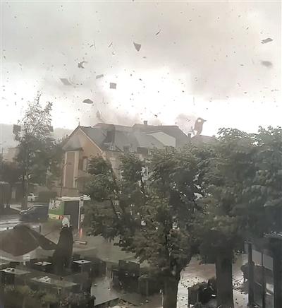 卢森堡遭遇龙卷风 致14人受伤