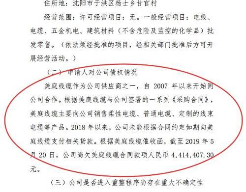 沈阳市中级人民法院认为,美庭线缆对沈阳机床享有到期债权,依法可以作为申请沈阳机床重整的主体。沈阳机床系注册成立的企业法人,具有重整能力,可以成为重整对象。