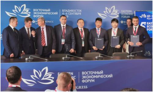 蒙牛与中俄两国有关当局部分、企业签定配相符制定