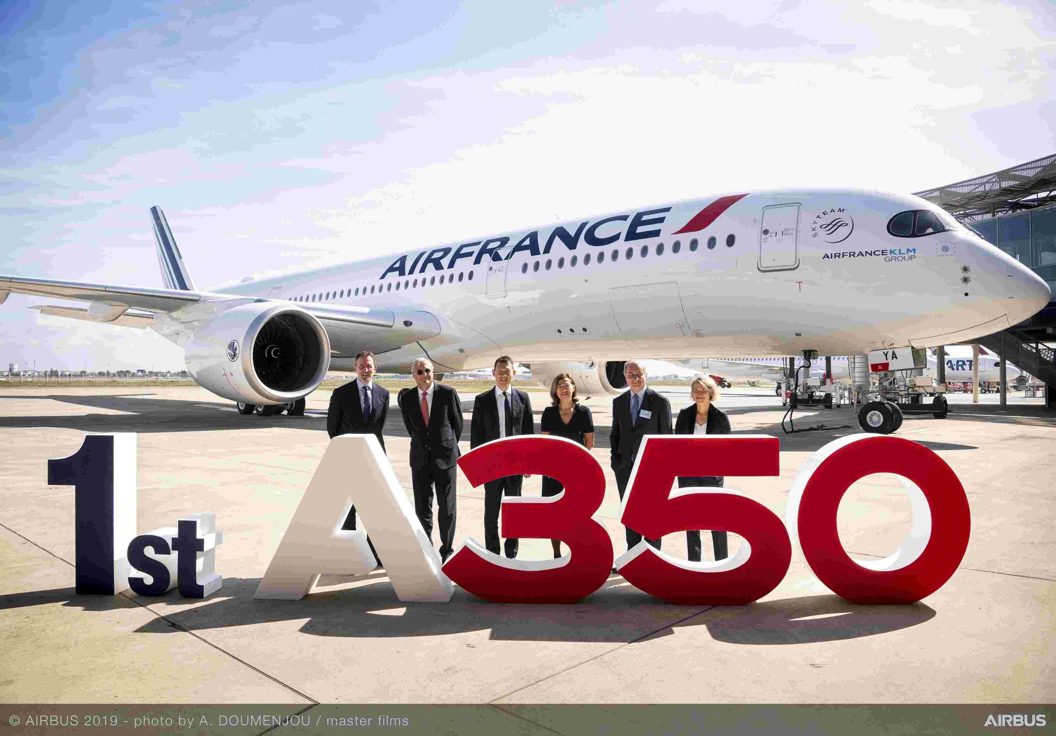 法国航空接收其首架空客A350-900飞机