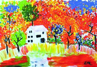 画画春天的景色动漫