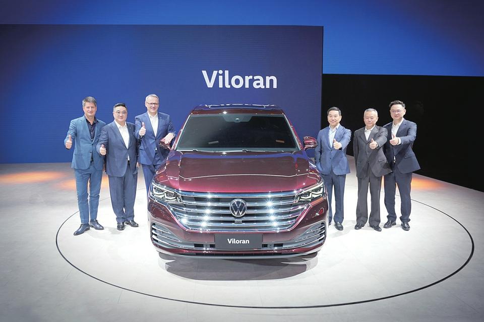 大型豪华商务MPV Viloran全球首秀 广州车展上汽大众群星闪耀