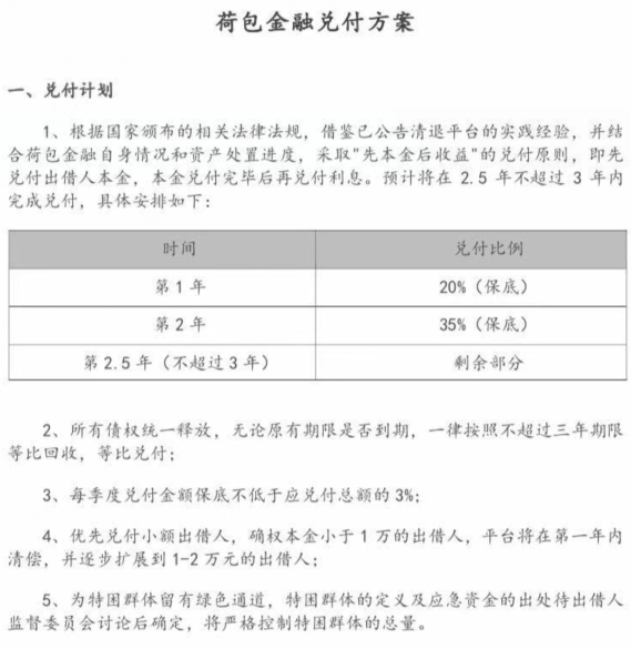 深圳一P2P平台兑付方案出炉 3年内完成兑付