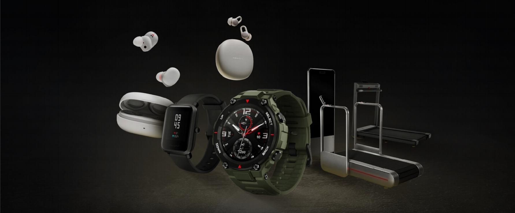 华米科技 Amazfit 发布真无线运动心率耳机、户外智能手表等六款产品