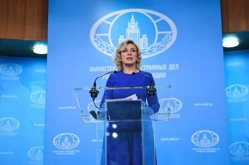 俄罗斯外交部发言人扎哈罗娃(俄罗斯卫星通讯社)