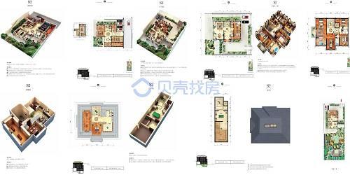 1460㎡5室3厅7卫户型图(来源:贝壳找房)