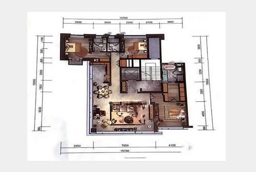 198㎡3室2厅3卫户型图