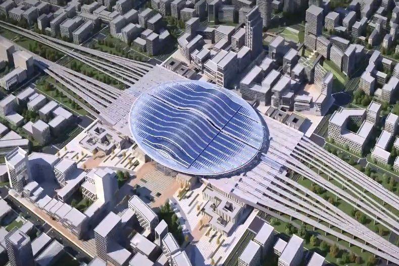 """一站北京、咫尺雄安,这座近零能耗生态新城""""亮""""了"""