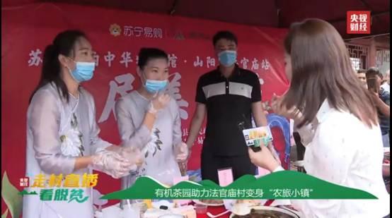 央视主播和山阳网红县长走进苏宁直播间现场为陕西法官庙村带货