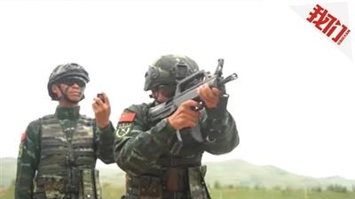 武警高原反恐训练 快反射击3.7秒十发全中