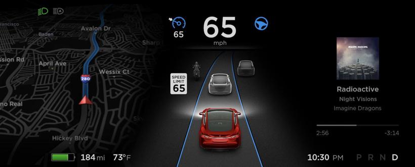 特斯拉发布软件更新 可检测限速标志