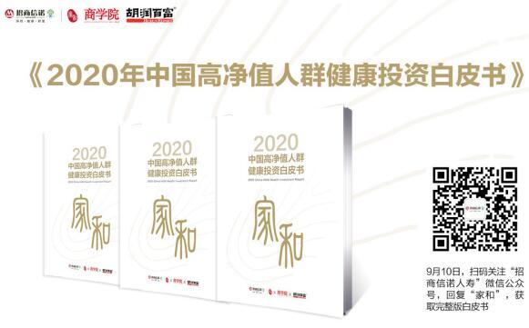 《商学院》杂志联合招商信诺人寿、胡润百富联合在线发布《2020中国高净值人群健康投资白皮书》