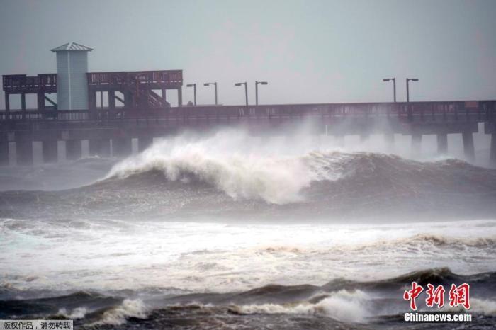"""飓风""""莎莉""""登陆美国阿拉巴马州南部海岸 预计将引发历史性洪灾"""