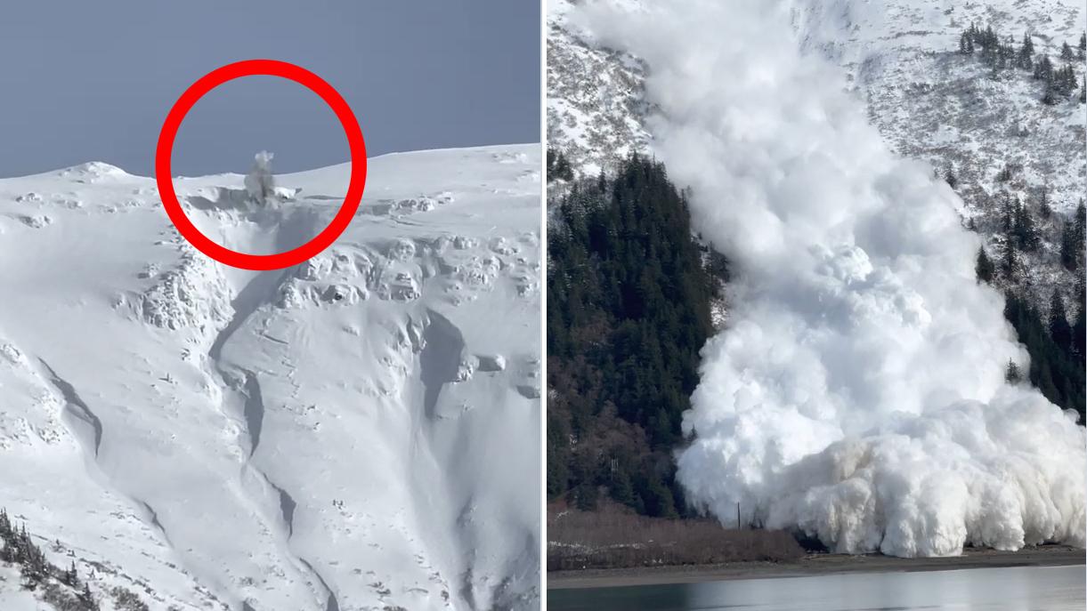 防患于未然!美国专家在阿拉斯加引爆炸药主动触发雪崩
