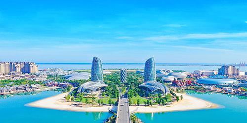 中国海南海花岛航拍全貌