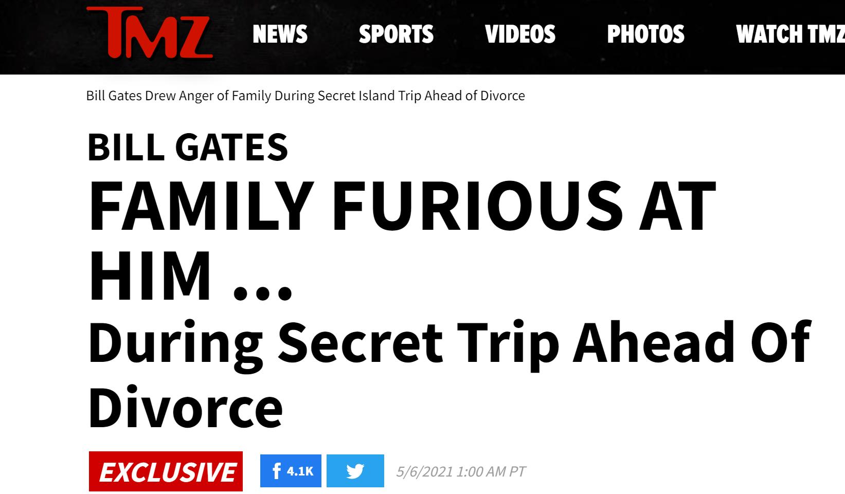 美媒爆料盖茨夫妇离婚细节:不是友好分手,律师已经忙了几个月,家人几乎都站梅琳达