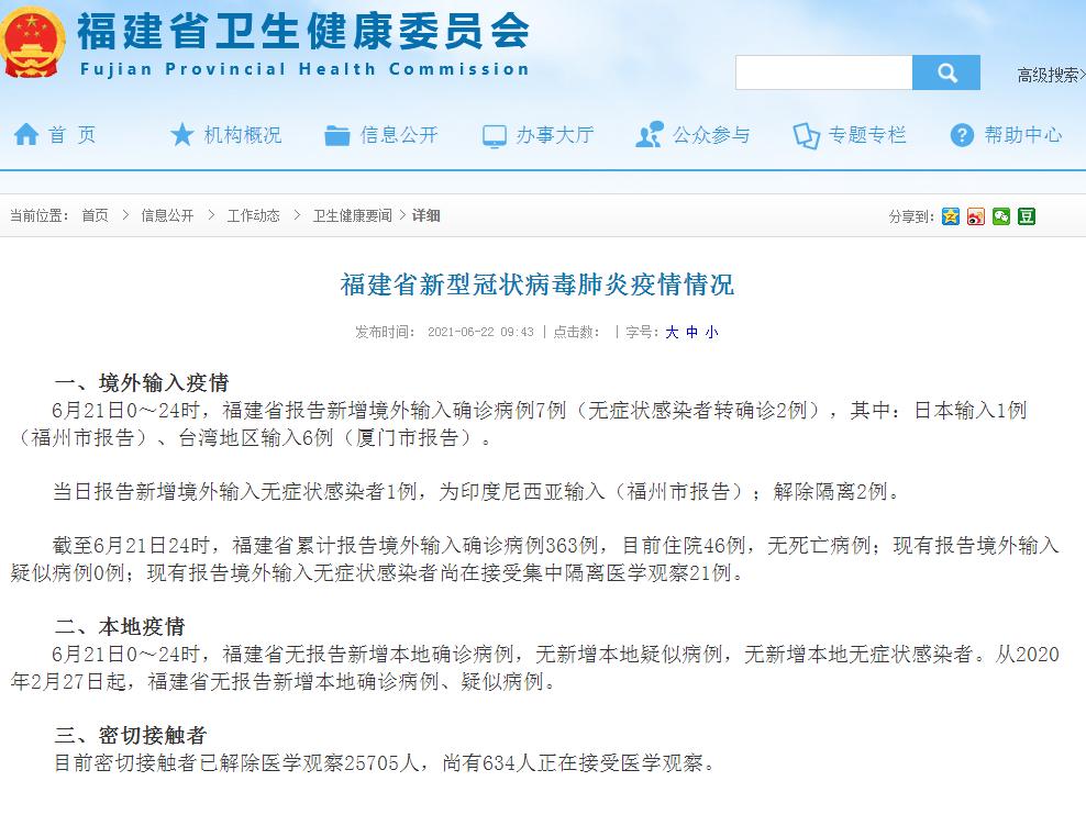 厦门新增由台湾输入病例6例 厦门疫情最新消息今天