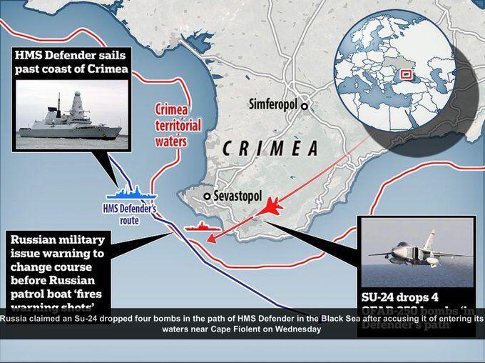 英军最先进驱逐舰不到一年两次在克里米亚附近被驱离,对俄方警告未理睬