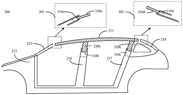 助力车企造好车!华为车顶调节系统专利公开:可增大车内空间