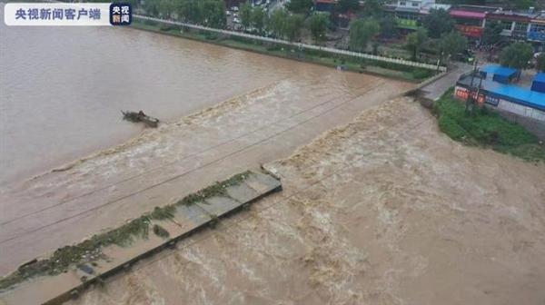河北1地现1963年以来最大洪水:部分山体出现坍塌