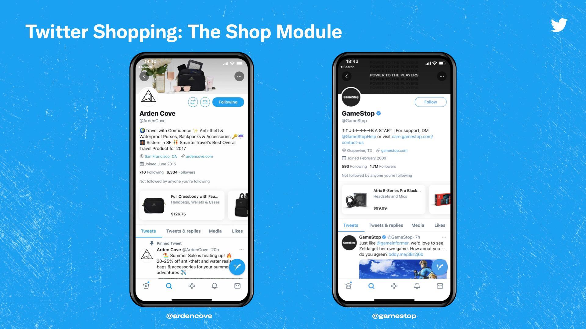 推特重燃社交电商热情 允许零售商在公司简介中推广商品