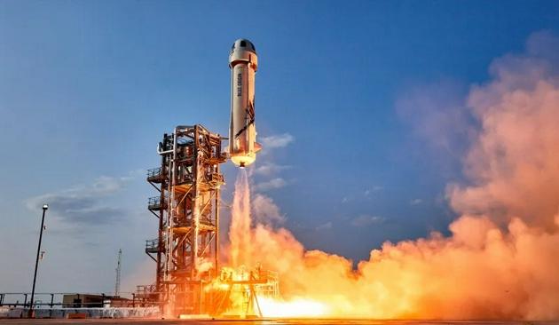 继贝索斯上太空后1个月蓝色起源昨晚再次完成1次无人太空飞行