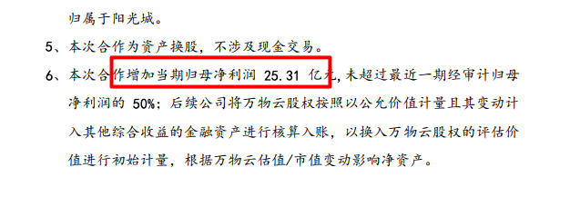"""阳光智博换股方式""""卖身"""" 阳光城增加当期归母净利润25.31亿元"""