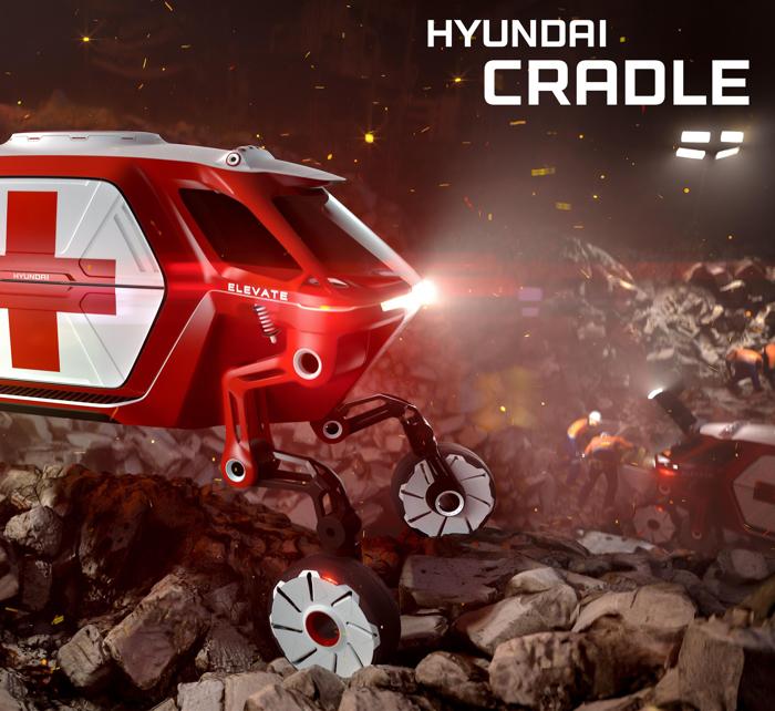 盖世汽车讯 当你认为你已经见过各种各样的概念车了,现代(Hyundai)却要推出一款非常诡异的概念车。现代汽车公司将在2019年于美国拉斯维加斯(CES)举行的国际消费电子展(CES)上推出一款概念车,该车将在1月7日的现代汽车新闻发布会上首次亮相。该款车名为现代Elevate概念车,据现代所说,它不仅仅是一辆汽车,因为该车除了可以驾驶之外,还可以行走和攀爬。